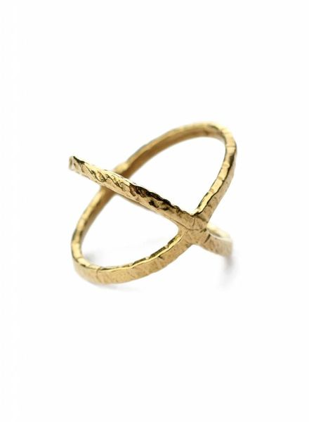 cross finger ring