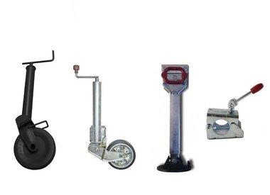 Stützräder, Stützfüsse, Klemmschalen und Zubehör