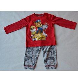 PAW PATROL: pyjama Paw Patrol (lange mouwen - rood)