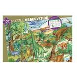 Djeco Djeco Dinosaurus puzzel 100 stuks