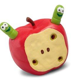 Wormen in appel