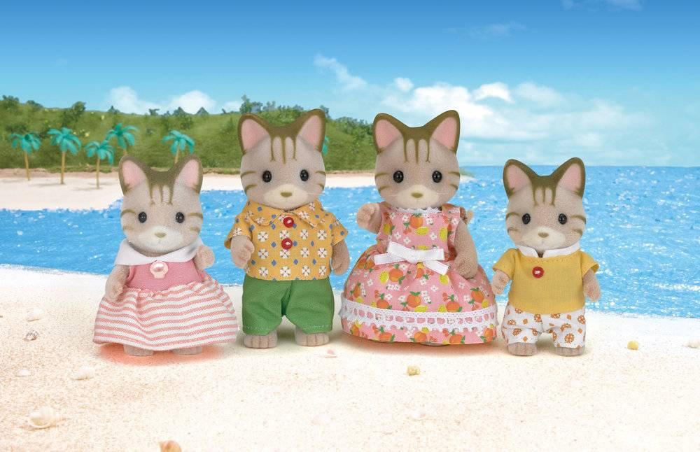 Sylvanian Families Sylvanian Families - Gestreepte katten familie