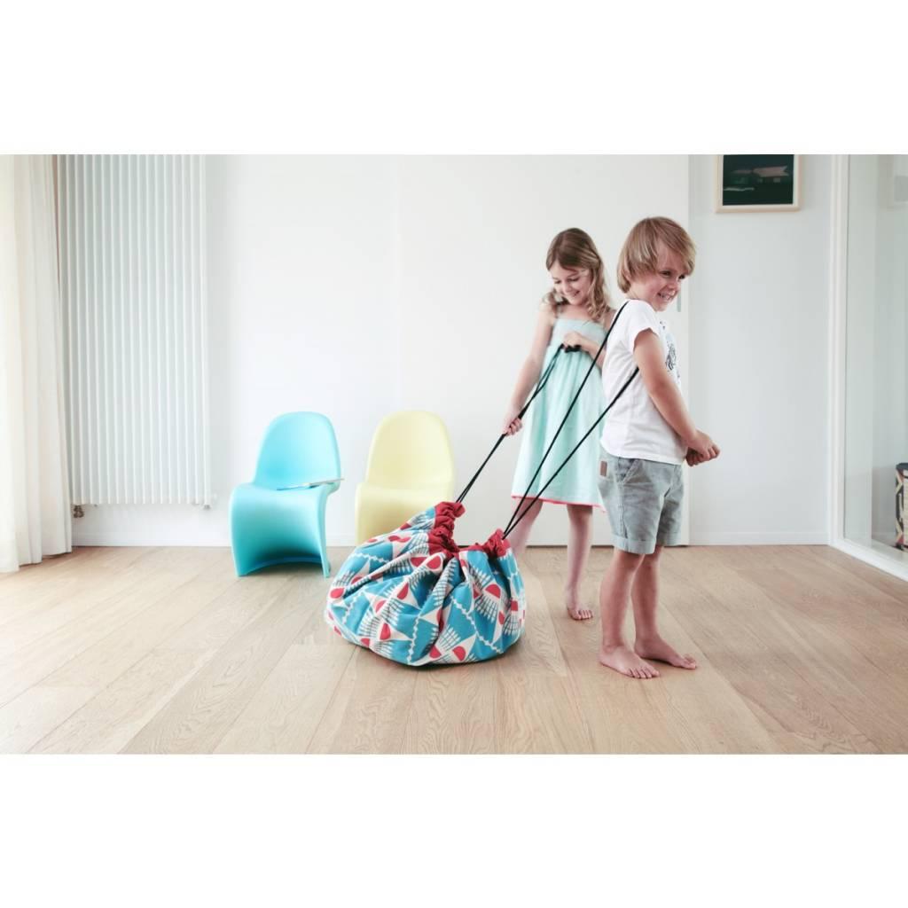 Play & Go Play & Go - Speelmat en Opbergzak - Badminton