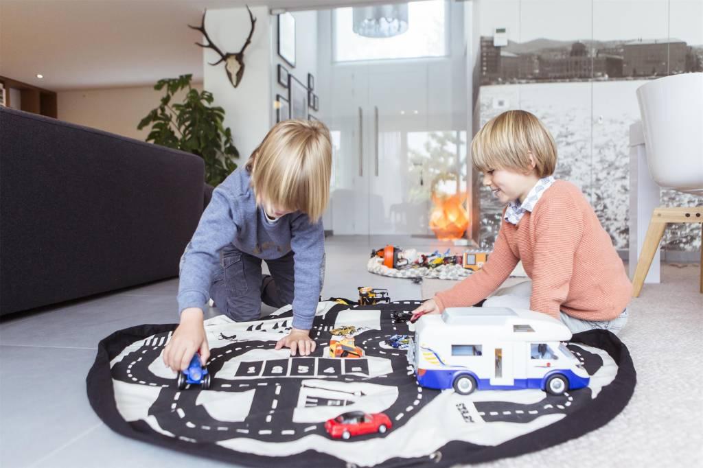 Play & Go Play & Go - Speelmat en Opbergzak - Wegenprint