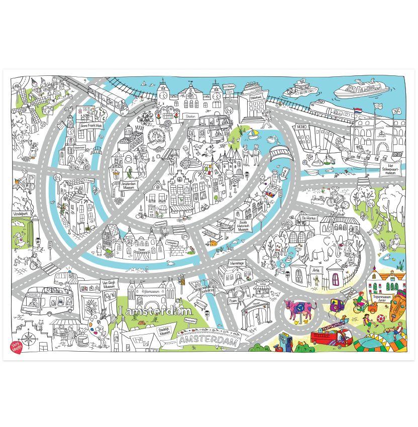 Very Mappy Speel- & Kleurplaat Amsterdam