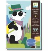 Djeco Djeco Gekleurd Zand Panda en zijn vriendjes