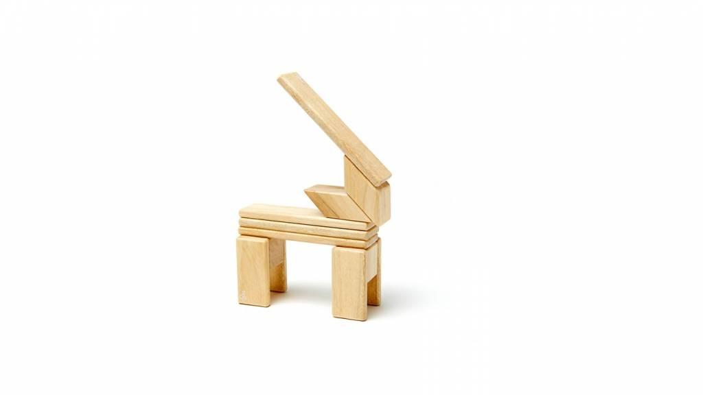Tegu Tegu magnetische hout blokken (14 stuks)