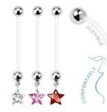 Schwangerschaftspiercing Sternchen - 3 Farben