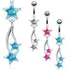 Bauchnabelpiercing Sterne - 3 Farben