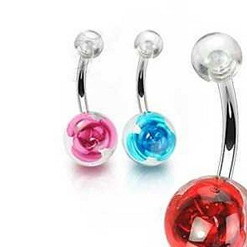 Rose Bauchnabelpiercing - 3 Farben