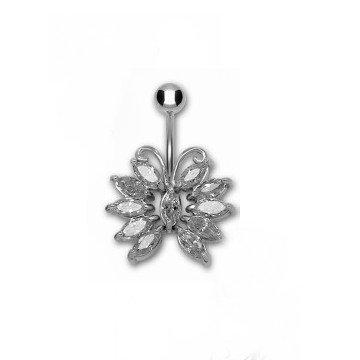 Schmetterling Bauchnabelpiercing Kristall