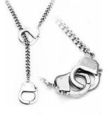 Halskette mit Handschellen als Verschluss