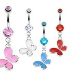 Schmetterling Bauchnabelpiercing - 4 Farben