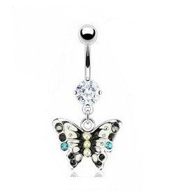 Bauchpiercing Schmetterling