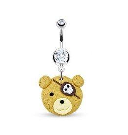 Teddybär Bauchnabelpiercing