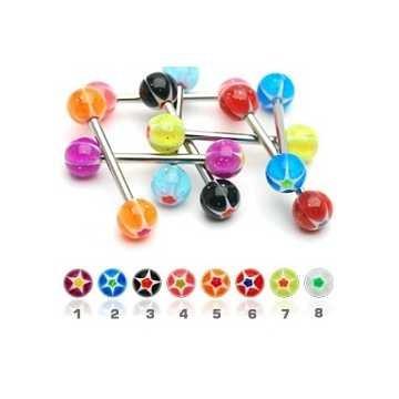 UV-Zungenpiercing Stern - 8 Modelle