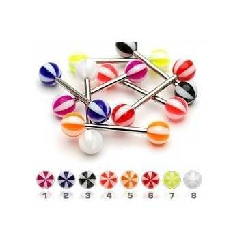 Kunststoff-Zungenpiercing - 8 Farben