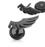 Fakeplug Flügel in schwarz