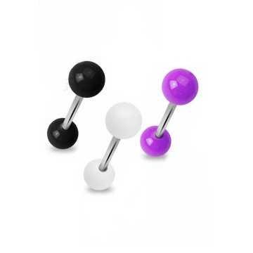 Zungenpiercing aus Kunststoff - 3 Farben