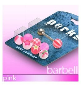 Pinkes Zungenpiercingset