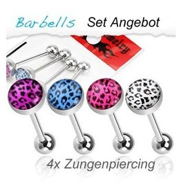 4er Set Zungenpiercing