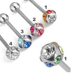 Glitzerndes Zungenpiercing