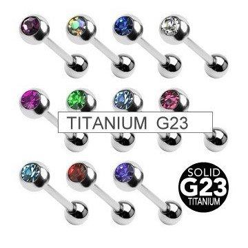Titanium Zungenpiercing - 11 Farben