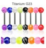 Zungenpiercing Titan - 8 Farben