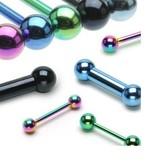 Piercing Barbell 1,6 mm - 6 Farben