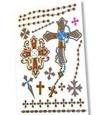 Temporäre Tattoos verschiedene Kreuze