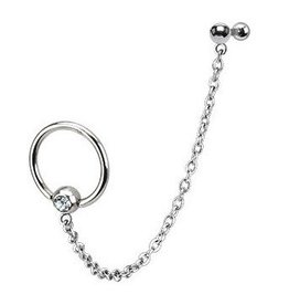 Piercing Ring mit Kette