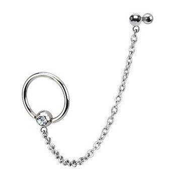 Piercing Ring mit Kette zum Helix
