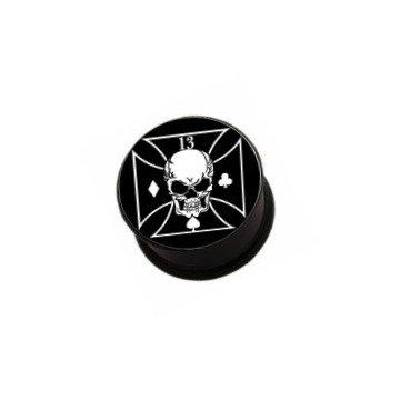 Acryl Plug Skull - Gr. von 8mm bis 16mm