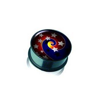 Acryl Plug Sterne aus Kunststoff