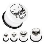 Acryl Plug Skull in weiß