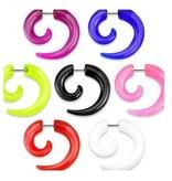 Fake Spirale in verschiedenen Farben