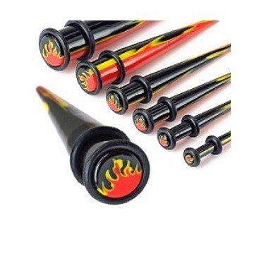 Dehnungsstab Flamme aus Kunststoff