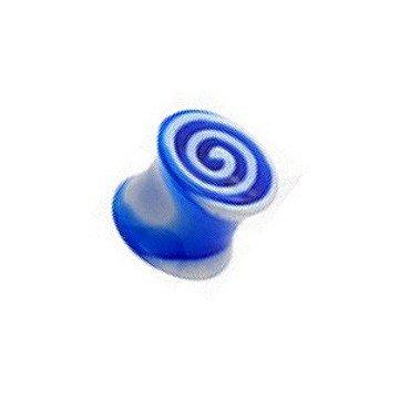 Acryl Plug Schnecke in Blau