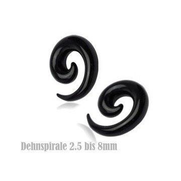 Dehn Spirale in Schwarz