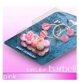 Pinkes Piercing SET - Hufeisenringe