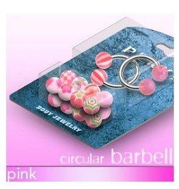 Pinkes Piercingring SET