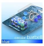 Circular Barbell 1,6 SET - blau