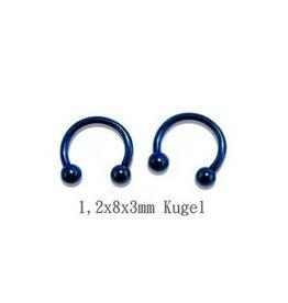 1,2 mm Hufeisenring blau