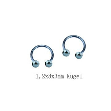 Helix Piercing 1,2 mm - blau
