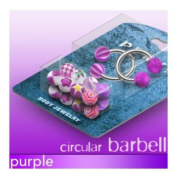 1,6 mm Piercing Set - violett