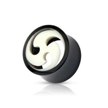 Horn Plug in Schwarz - Weiß