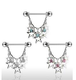 Brustpiercing mit Sternen