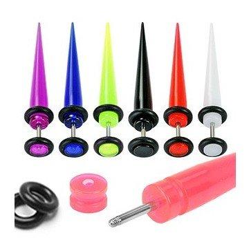 UV Acryl Fakpiercing in verschiedenen Farben