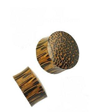 Holz Ohr Plug 8mm bis 14 mm
