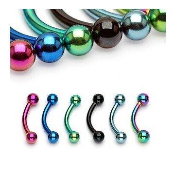 Piercing für Augenbraue - 6 Farben